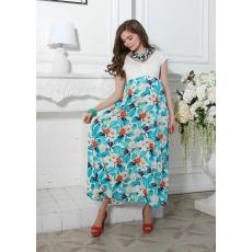 Платье макси штапель
