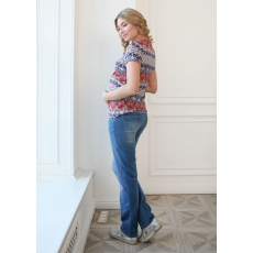 Джинсы прямые для беременных