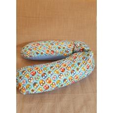 Подушка для беременных и кормления 190см Совы голубые